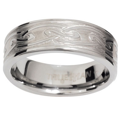 "Tungsten Ring ""Celtic knots"" US size 8"