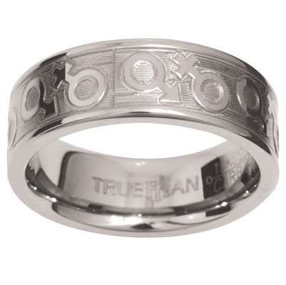 Unisex Tungsten Ring US Size 8.5