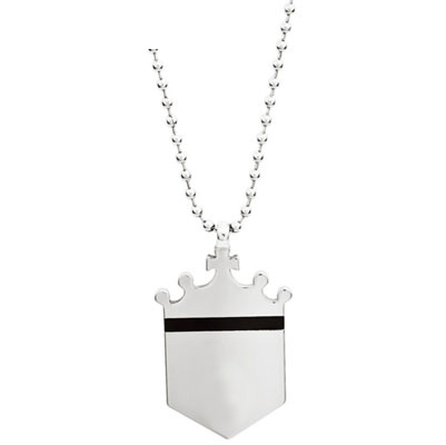 Truman Tungsten Shield Pendant