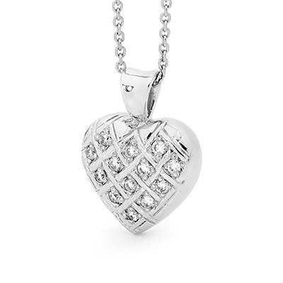 Noble Platinum Diamond Heart