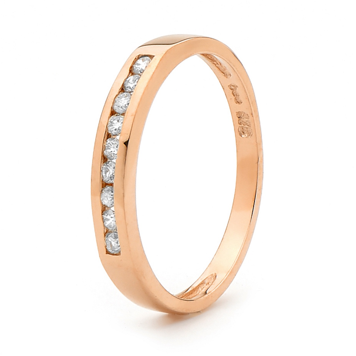 Nine Diamond eternity ring in 9 ct Rose gold
