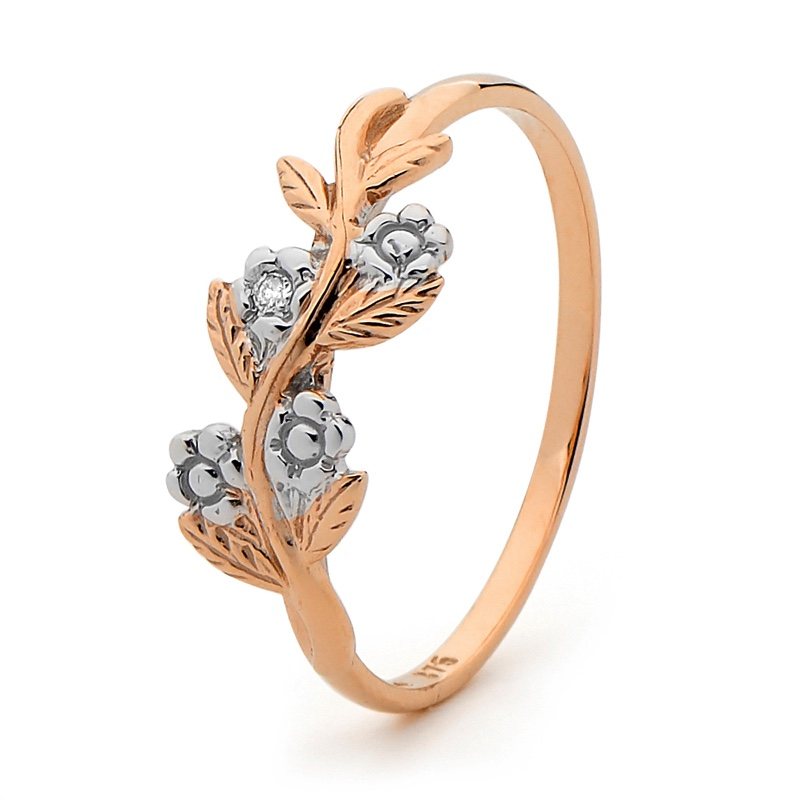 "Rose Gold Ring ""Foreget Me Not"""