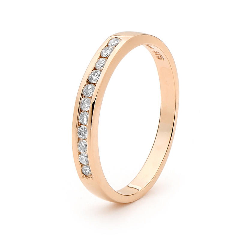 Rose Gold Eternity Wedding Ring