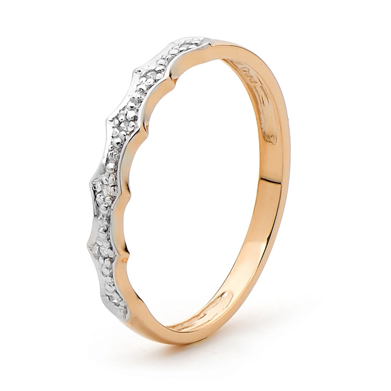 Diamond Set Rose Gold Ring