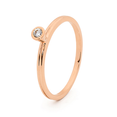 Mix & Match Rose Gold Ring with CZ