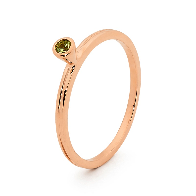 Mix and Match Rose Gold Ring with Peridot