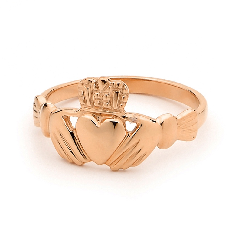 Irish Claddagh ring - Rose Gold - Classic