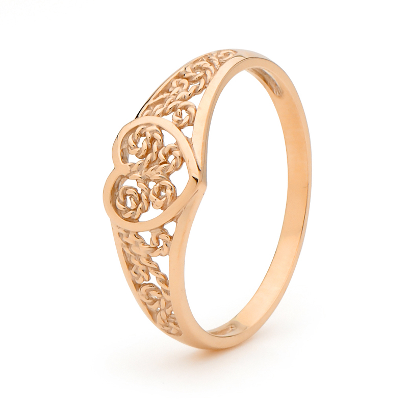Gold Ring - Rose Gold - Filigree