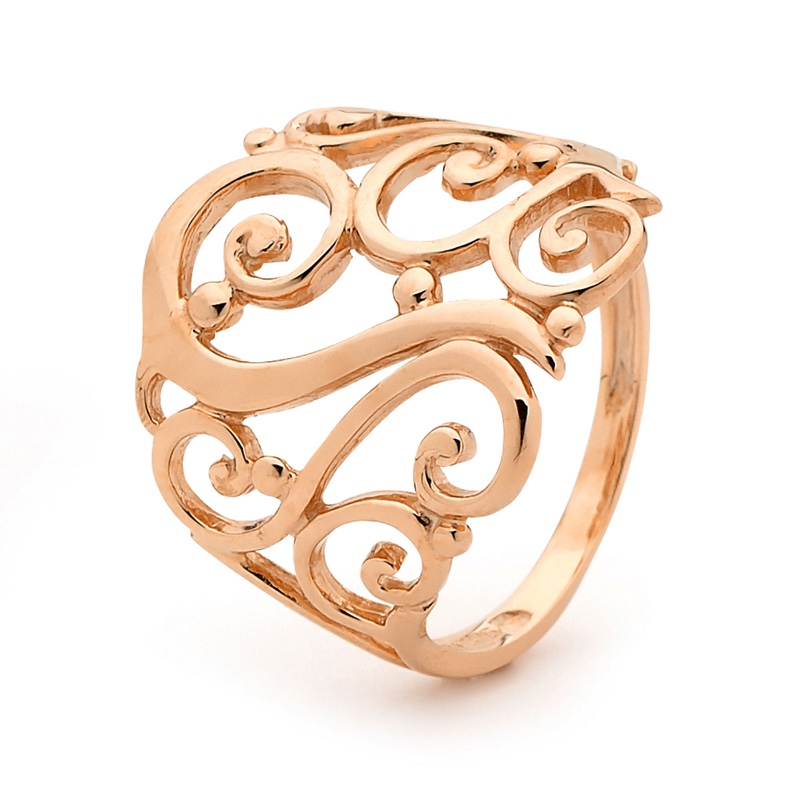 Gold Ring - Rose Gold - Floral