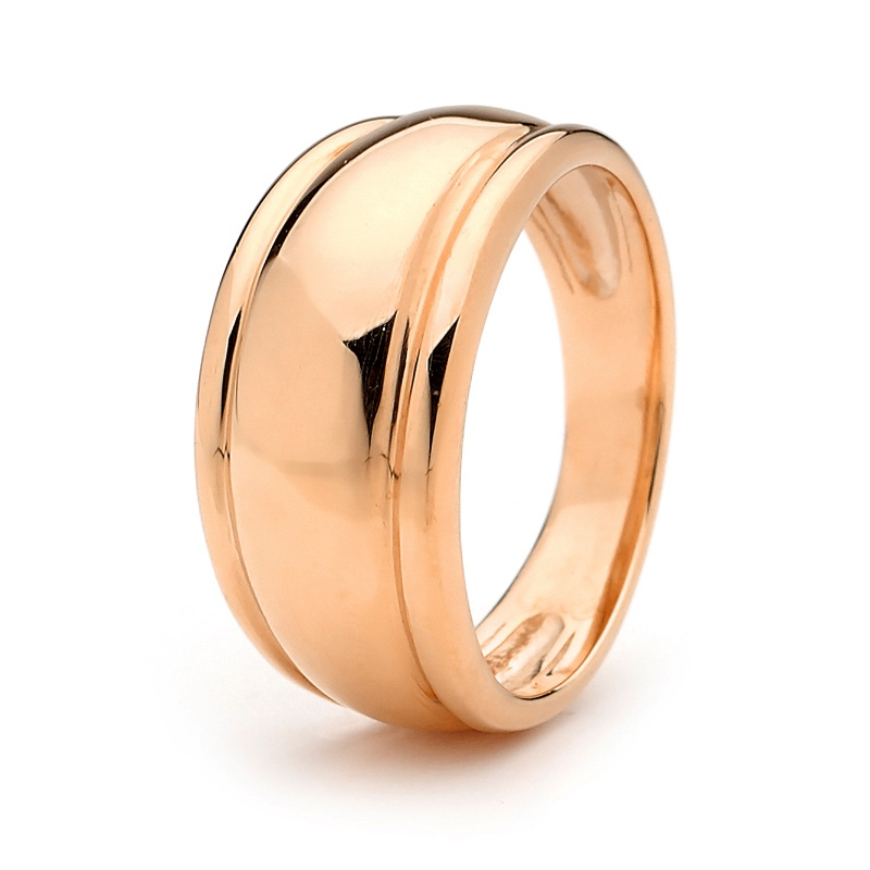 Gold Ring - Wide Dome - Rose Gold