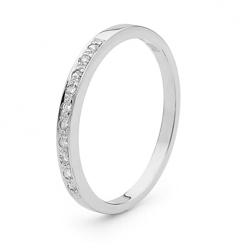 Diamond Set Wedding Ring - 0.10 carat