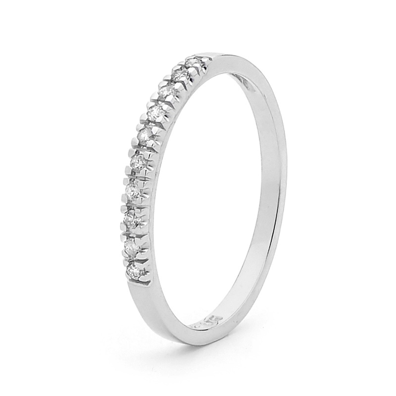 Anniversary Ring - 0.1 Carat TDW - White Gold