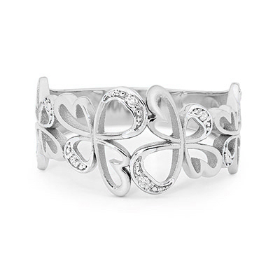 Bee Angel Ring White Gold