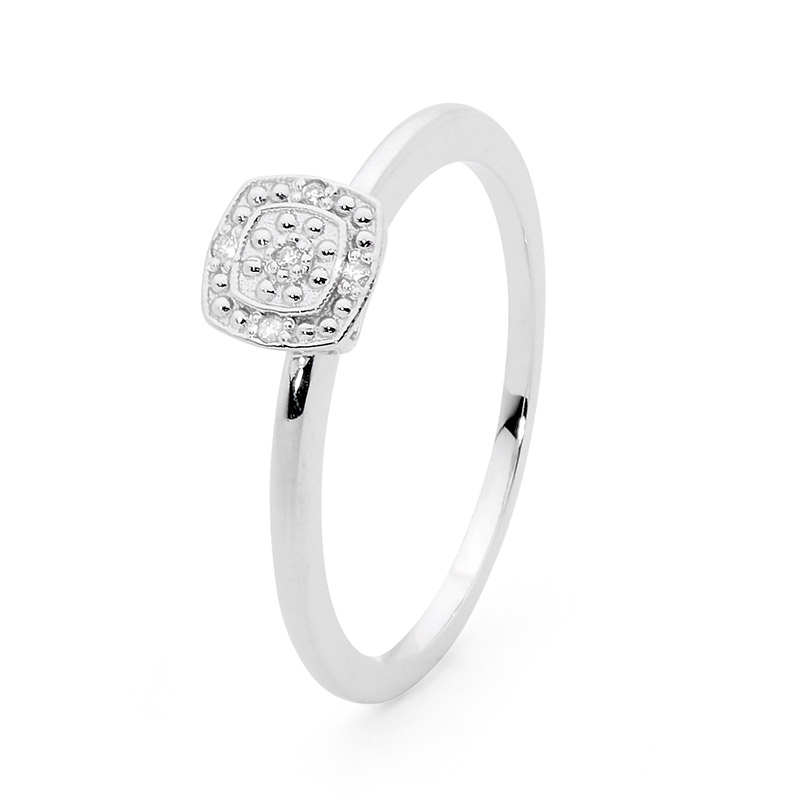 White Gold Diamond Love Ring
