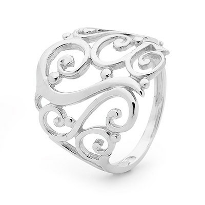 Gold Ring - White Gold - Floral Design