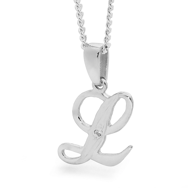 Diamond Set Script Initial L