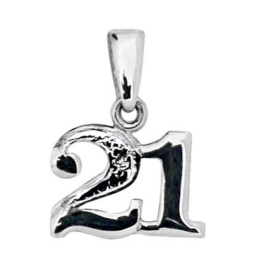 Celebration 21 Pendant - White Gold