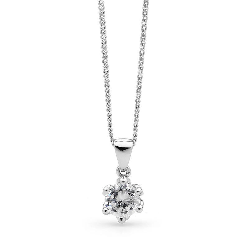 White Gold Zirconia Pendant