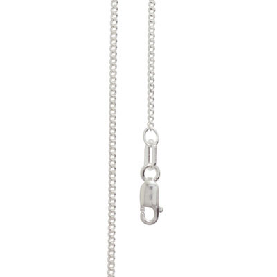 Light Silver Curb Link Chain - 45 cm