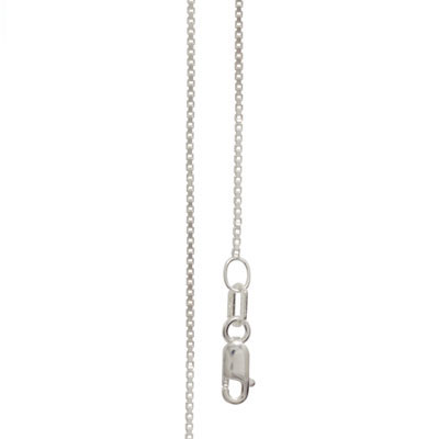 Silver Box Chain necklace - 55 cm