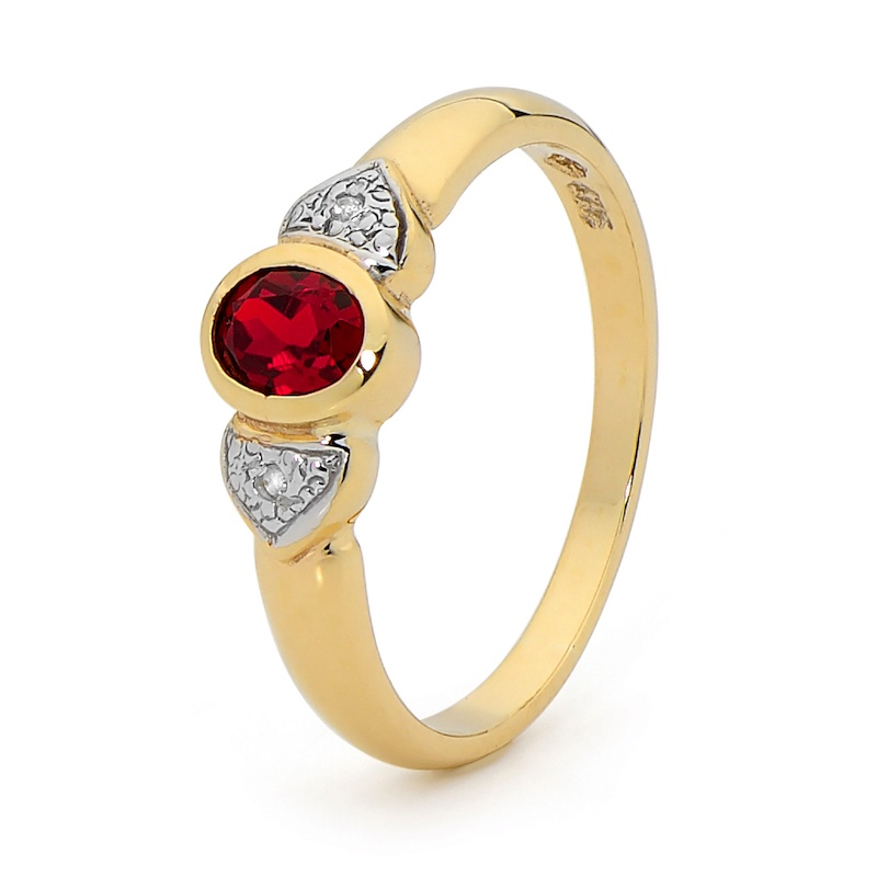 Created Ruby and Diamond Bezel Ring