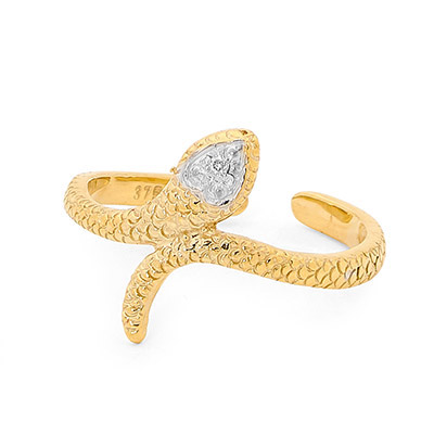 Snake Toe Ring with Diamond