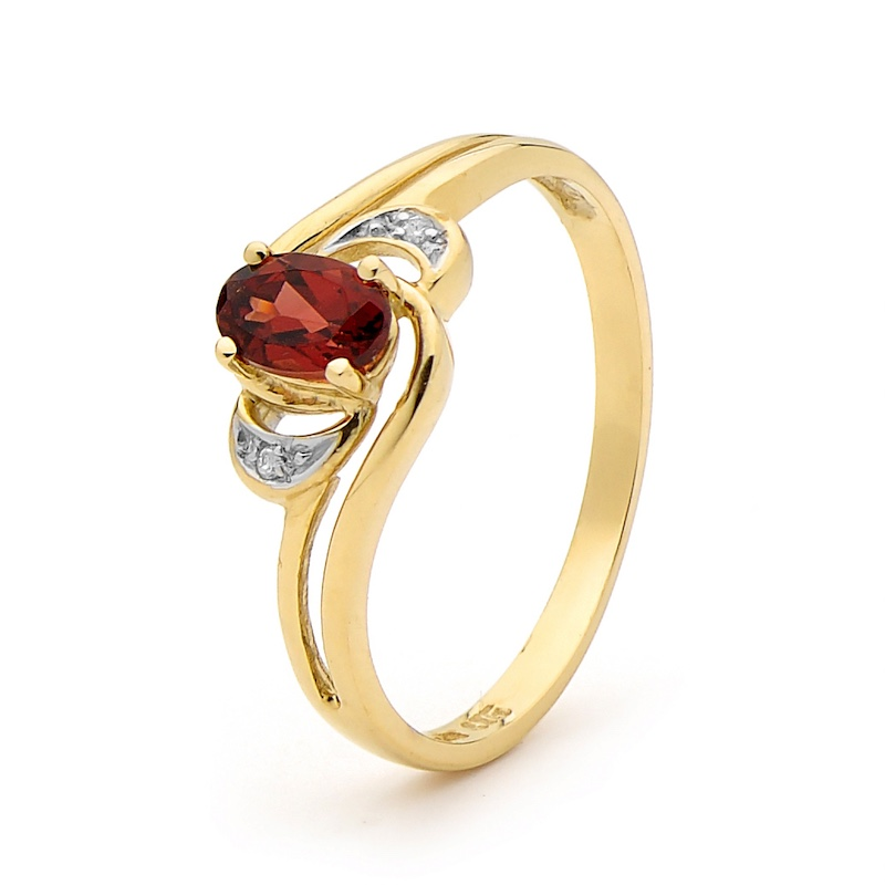 Garnet and Diamond Dress Ring