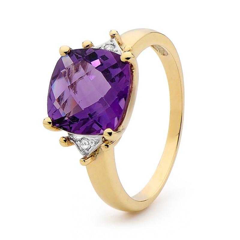 Amethyst and Diamond Dress Ring (W)