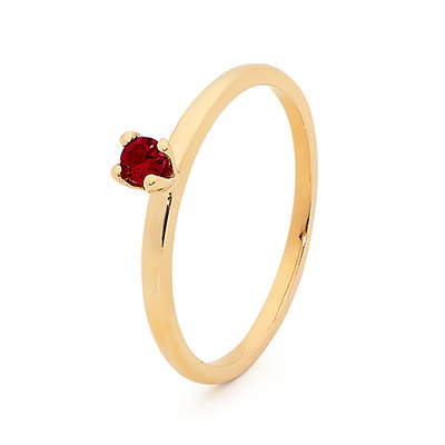 Stackable Fun Ring with Created Ruby