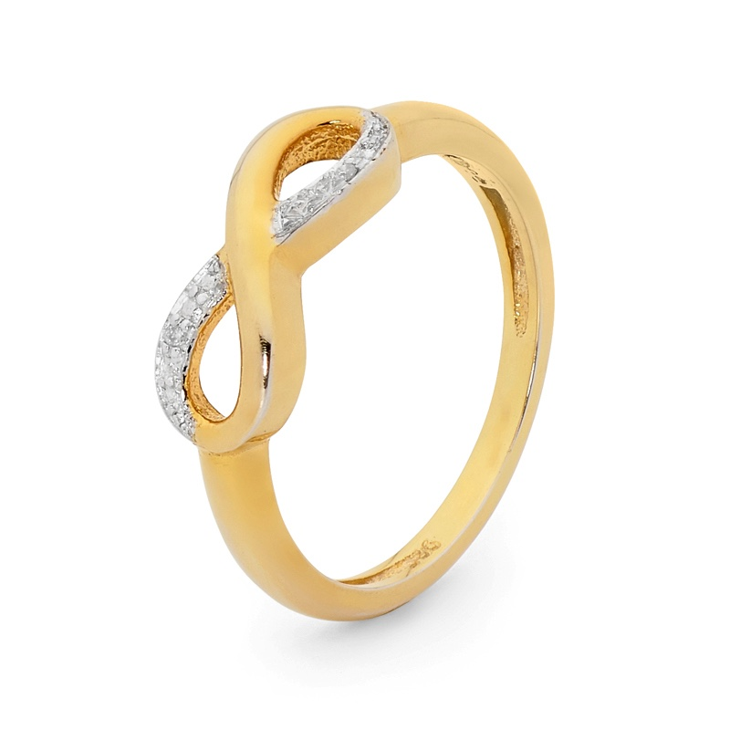 Infinity Love Ring with Diamonds