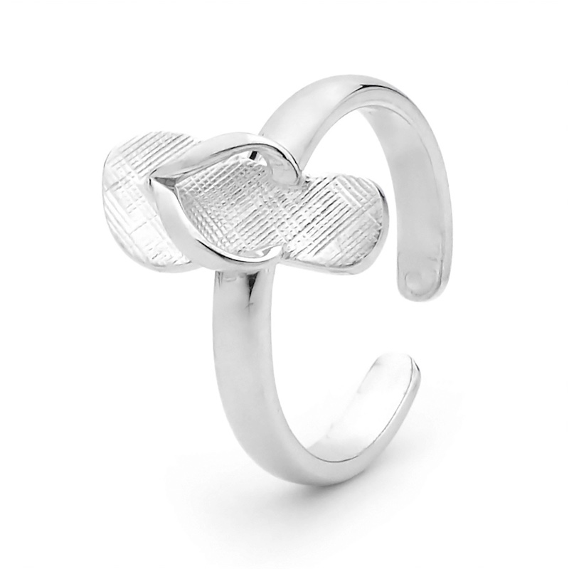 Sterling Silver Thong Toe Ring