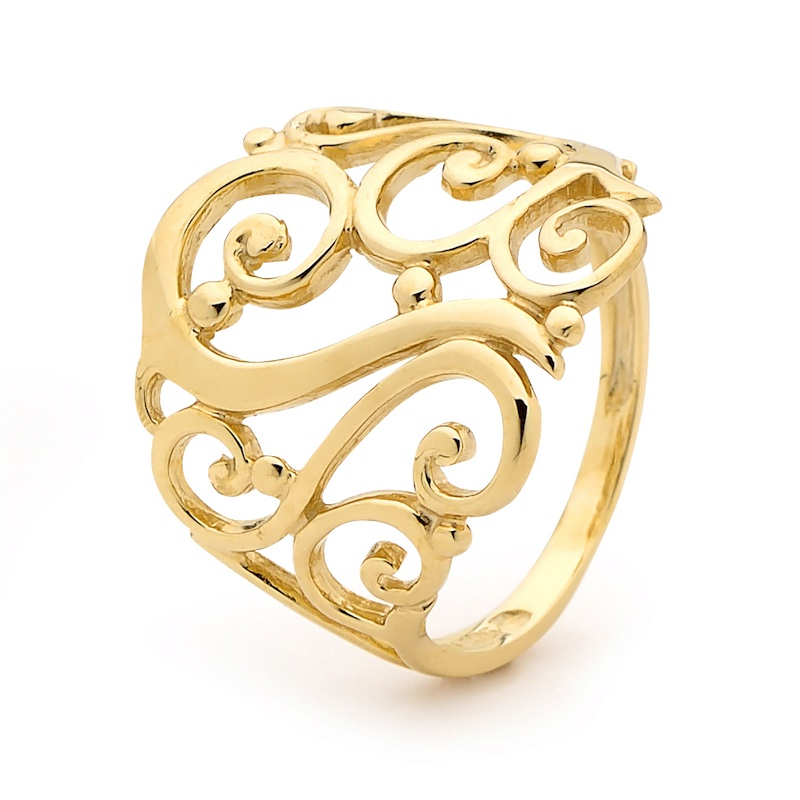 Wide Celtic Gold Ring