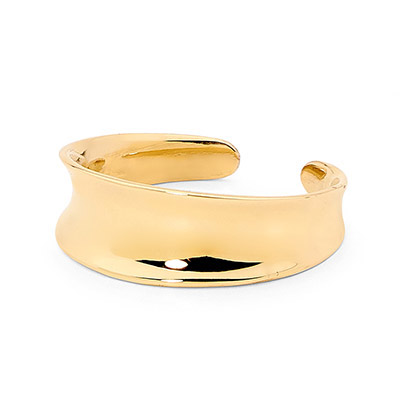 Shiny flared 9 ct. gold toe ring