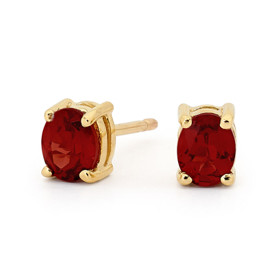 "Ruby Stud Earrings ""Classic"""