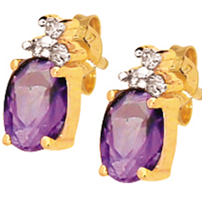 Amethyst and Diamond earrings