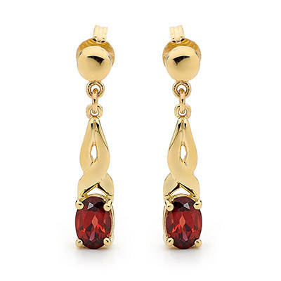 9 ct. Gold Garnet earrings