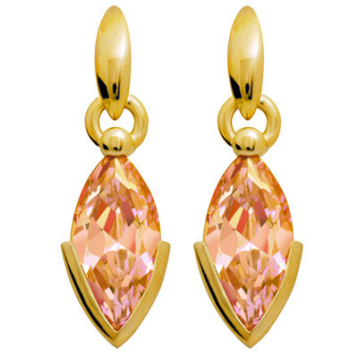 Champagne Zirconia Earrings