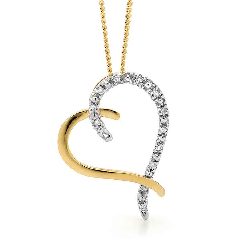 13 Diamond Heart Pendant