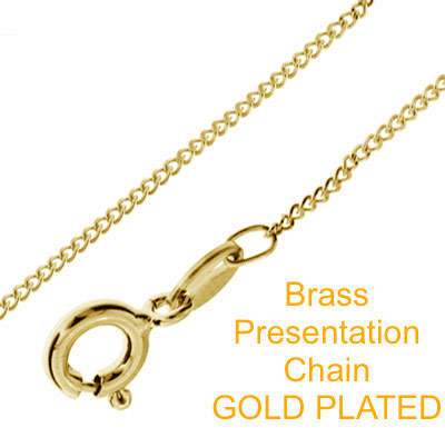 Brass Presentation Chain Gold Plated