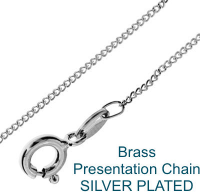 Brass presentation Chain Silver Plated